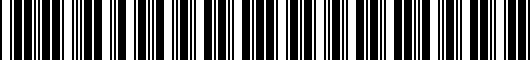 Barcode for PT9244814020